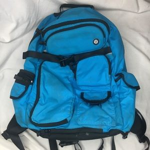 Used Lululemon Blue Backpack Laptop Tablet Stow